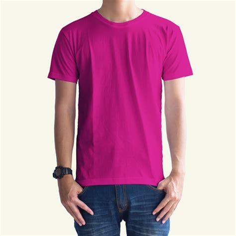 Kaos Distro Polos Pink toko jual grosir kaos distro kaos polos pink magenta
