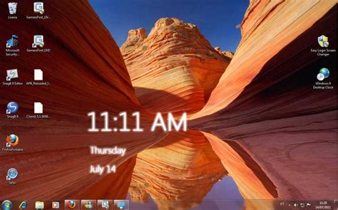 desktop themes with clock free download windows 8 desktop clock windows download