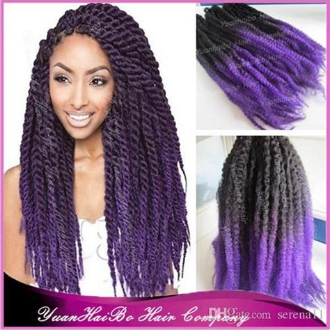 hair ombre kinky twist 2018 two tone marley hair black purple kinky twist ombre