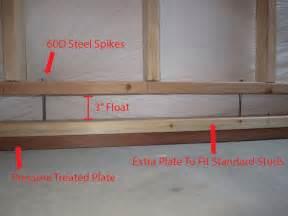building basement walls framing basement walls how to build floating walls