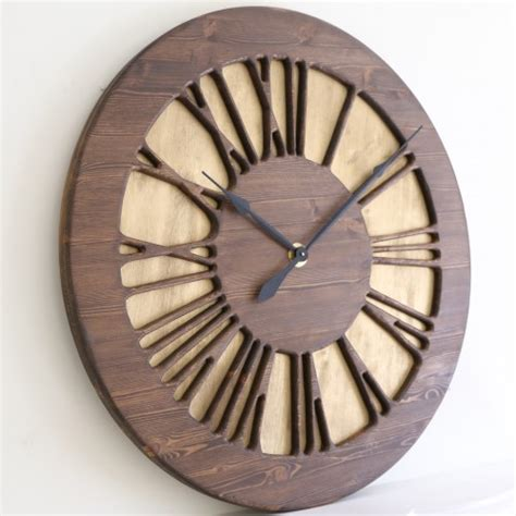 handmade 40 quot vintage numeral wall clock wood