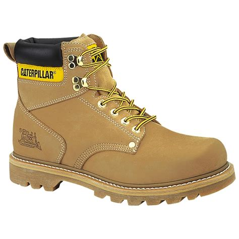 Sepatu Boots Caterpillar Bishop Steel Toe Brown Safety Ujung Besi s cat second shift boot 98941 work boots at sportsman s guide