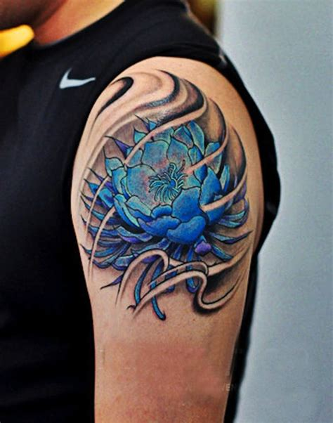 lotus tattoo for men blue lotus flower for tattoos