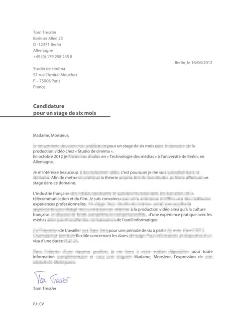 Lettre De Motivation Candidature Spontanée Vacataire cover letter exle exemple de lettre de motivation