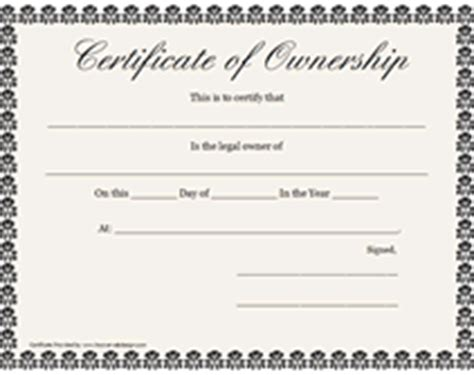 certification letter for ownership free printable certificates of ownership form templates
