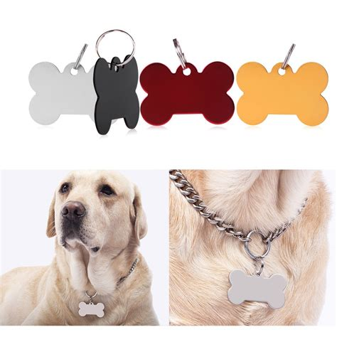 engraved tags for pets engraved custom personalized pet id tags cat animal name charm tag with ring ebay