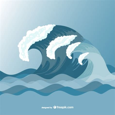 template of waves sea waves vector drawing template vector free
