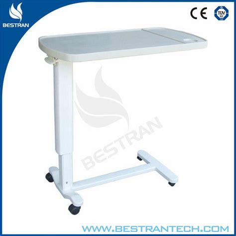 hospital bed tables adjustable bt at002 hospital furniture abs plastic bed
