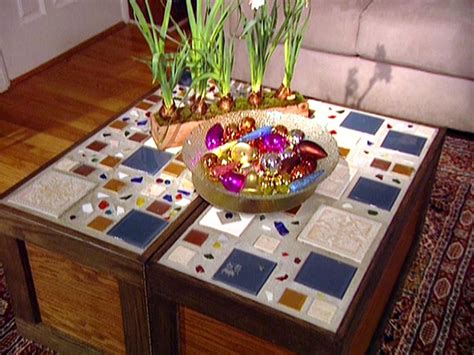 A Square Coffee Table That Turns into a Rectangle Bench HGTV