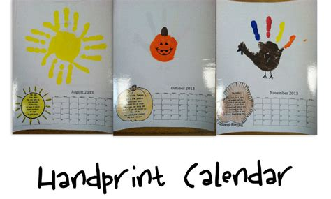 don t know about the handprint calendar see original post