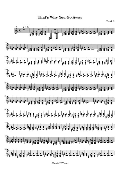 That's Why You Go Away Sheet Music - That's Why You Go