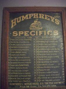 Antique Humphreys' Specifics Apothecary Medicine Cabinet