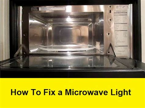 How To Fix A Microwave Light Youtube How To Fix Lights