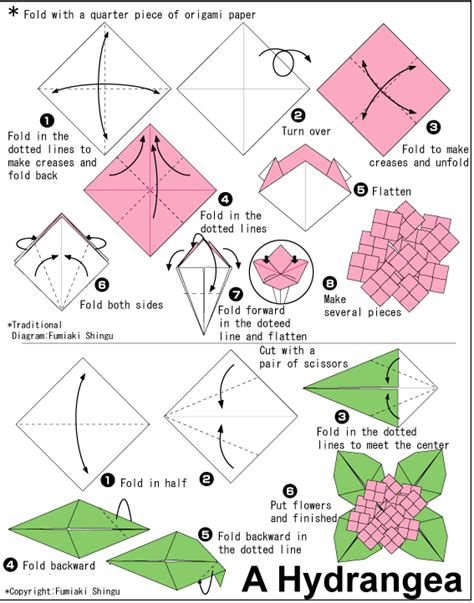 Basic Origami Flower - simple origami flower printable found here info
