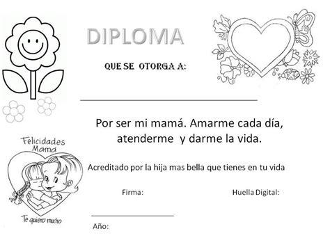 diplomas de madre menta m 225 s chocolate recursos y actividades para