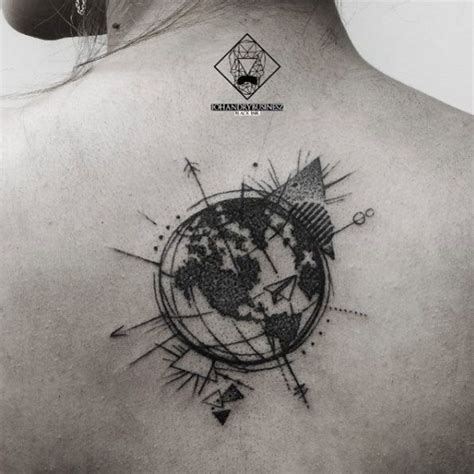 tattoo ideas globe 45 inspirational travel tattoos that are beyond perfect