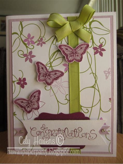 Handmade Congratulations Card Ideas - handmade greeting card congratulations butterfly stin