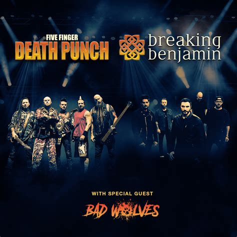 five finger death punch and breaking benjamin breaking benjamin and five finger death punch with bad wolves