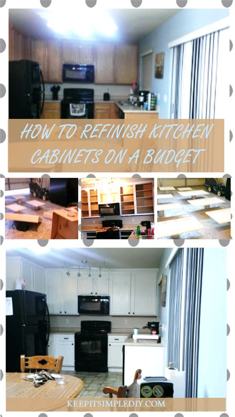 how to redo kitchen cabinets on a budget how to refinish kitchen cabinets on a budget keep it
