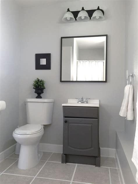small garage bathroom painted vanity wallbehr