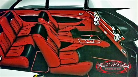Franks Rod Upholstery by Frank S Rods Upholstery 1955 Chevy From Render To
