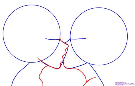 tutorial how to kiss a boy how to draw kissing step by step faces people free