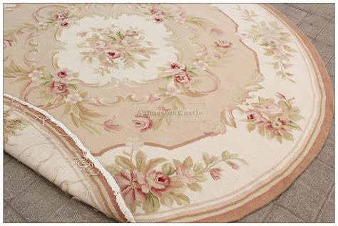 6x6 shabby chic aubusson rug light pink ivory