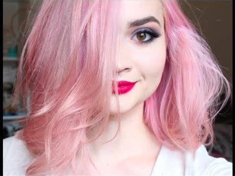 how i dye my hair pink youtube