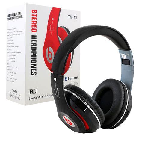 Headset Bluetooth Stereo Headphones Tm 13 Mp3 T1910 خرید هدفون بیتس بلوتوث رم خور beats tm 13 با کیفیت صدای مطلوب