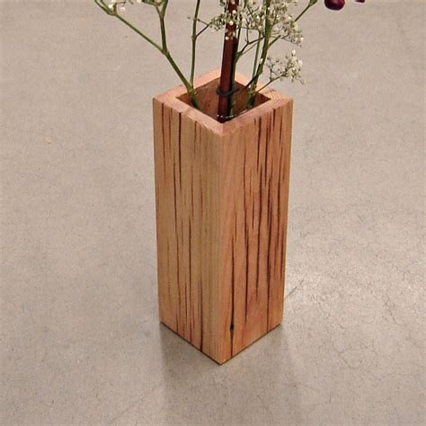 Wooden Vase Rustic Reclaimed Wood Vase By Andrew S Reclaimed