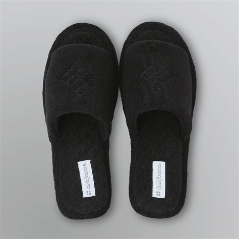 toe slippers dearfoams s quilted open toe slipper