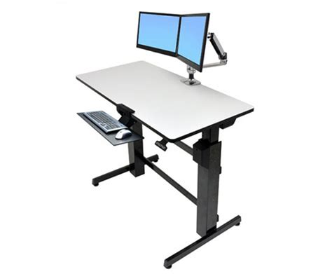 workfit d sit stand desk ergotron workfit d sit stand desk datanet