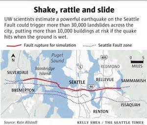 seattle earthquake map december 2013 landscape urbanism