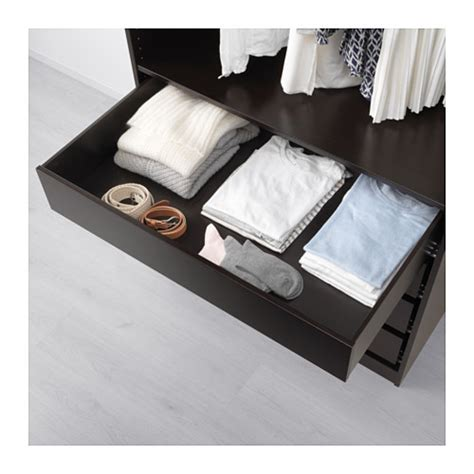 Pax Drawers by Komplement Drawer Black Brown 100x58 Cm