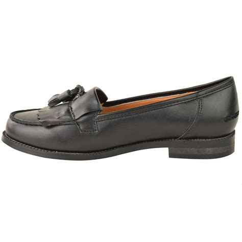 casual leather loafers womens office flat casual patent faux leather