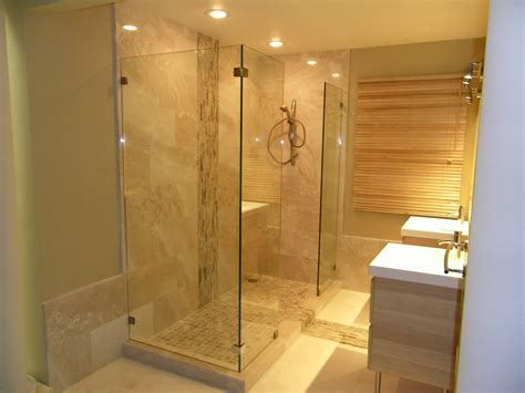 No Shower Door Shower Screen Stationery Panel Allservices Frameless Glass Company