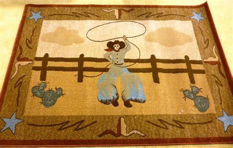 cowboy area rugs bswh21 4663 cowboy roper western area rug 46 x 63