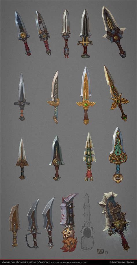 game design equipment daggers concepts by vakon art equipment gear magic item
