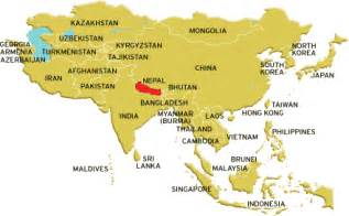 Location Of Nepal In World Map by Where Is Kathmandu Nepal Located On A Map