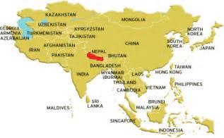 World Map Of Nepal by Nepal Location Map Samrat Tours Amp Travels