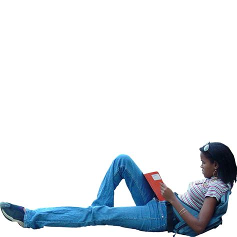 Reclining Person by Immediate Entourage Reclining And Reading A Book