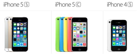 iphone 4s specs iphone 5s vs iphone 5c vs iphone 4s tech specs and