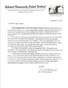 letter of recommendation for teacher letter of