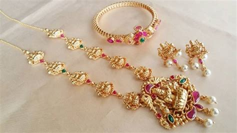 San Ruby 15gram buy 1 gram gold necklace with bangle combo
