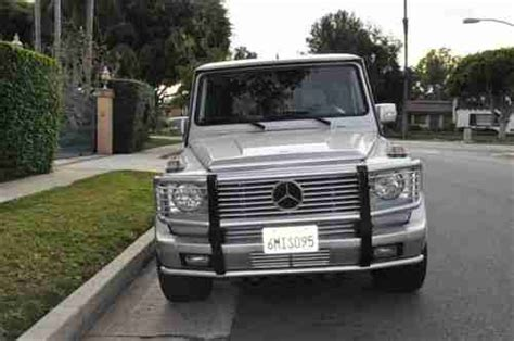sell used 2005 mercedes g55 amg silver grey interior
