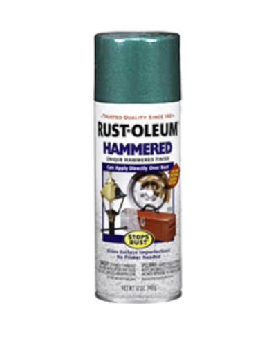 rust oleum 174 stops rust 174 hammered verde green spray paint 12 oz at menards 174
