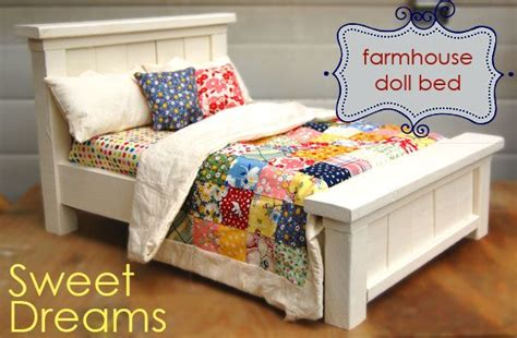 ana white build a doll farmhouse bed free and easy diy doll farmhouse bed so incredibly cute craft projects