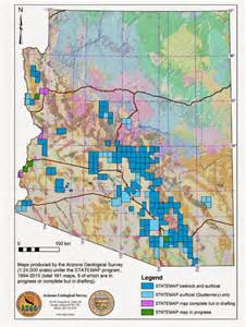 arizona geology index of arizona geologic maps published