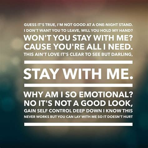 stay with me sam smith testo stay with me lyrics soundtrack of my