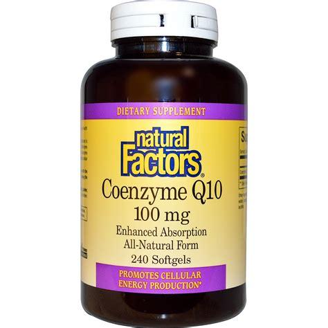 Suplemen Q10 factors coenzyme q10 100 mg 240 softgels iherb
